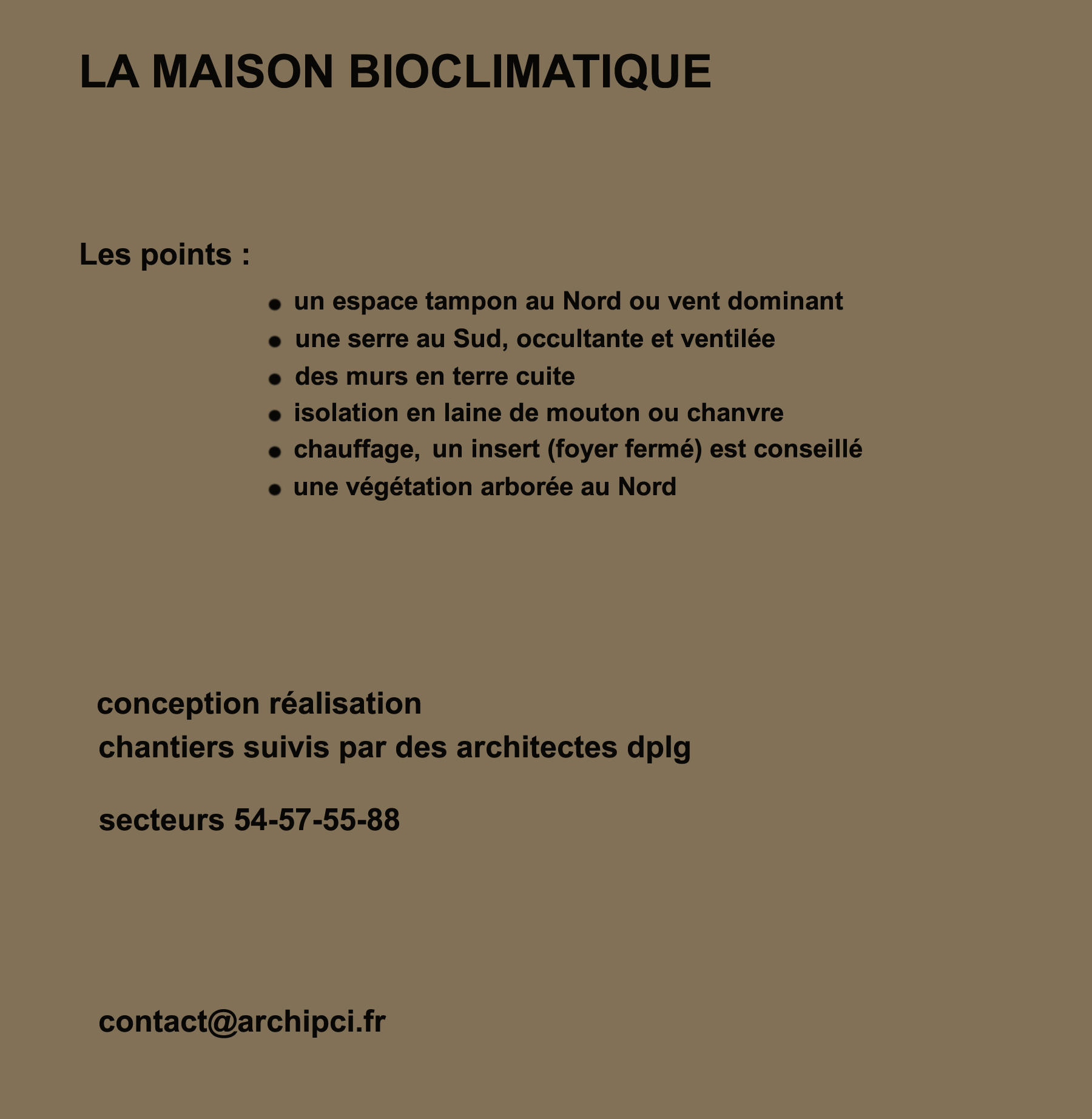 La maison bioclimatique plan maison contemporaine - La maison bioclimatique ...