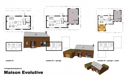 Plan maison contemporaine maison construction bbc - Maison module bois ...